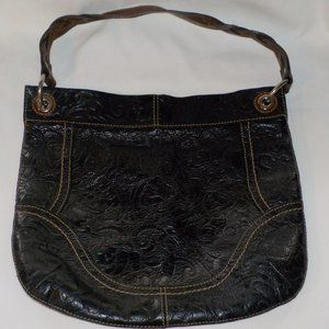 Fossil purse leather large hobo style
